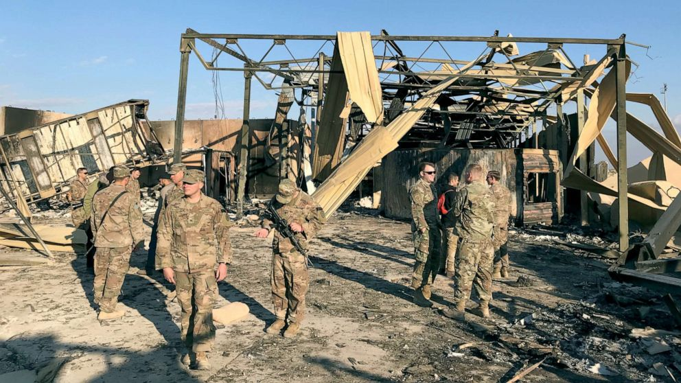 Pentagon says that, in the new rocket attack, 3 American Troops wounded