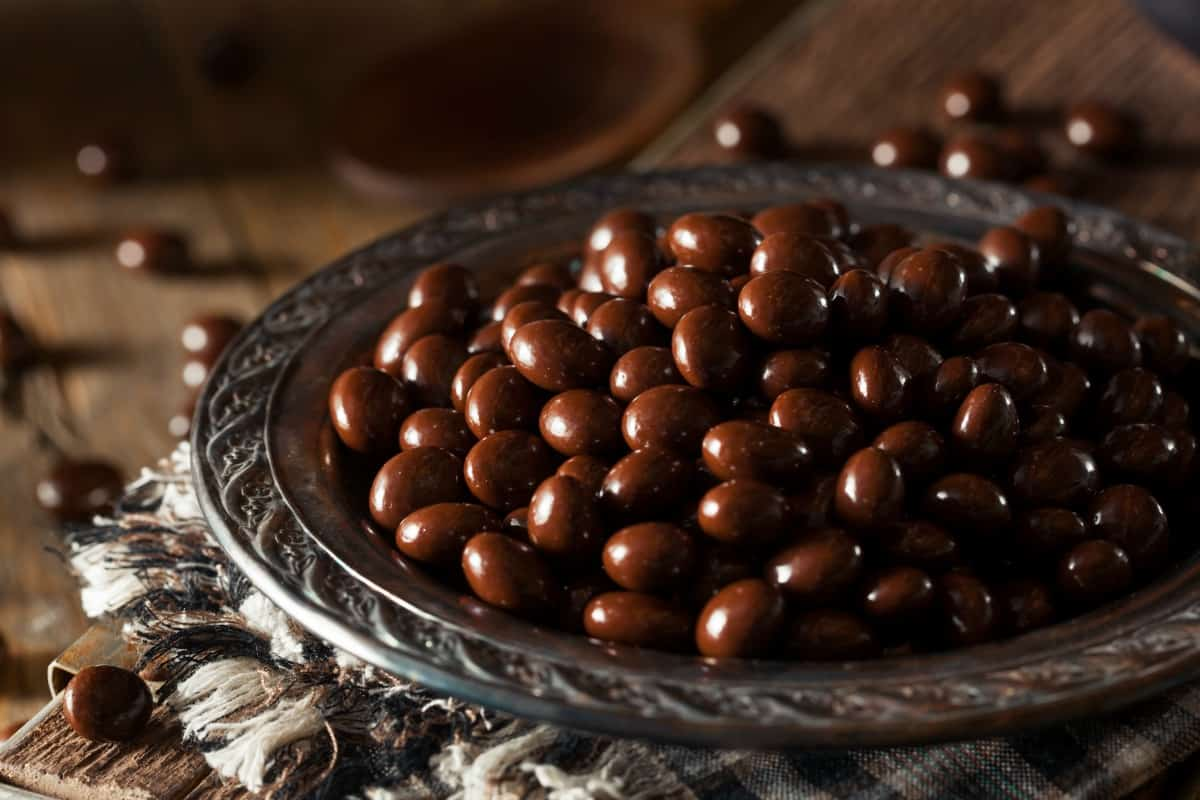 how much caffeine in chocolate covered espresso beans